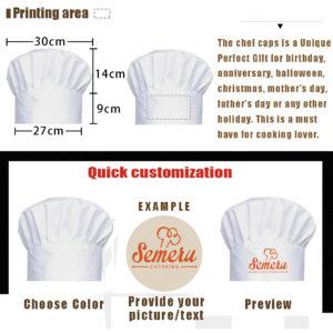 Personalized Custom Chef Cap-2