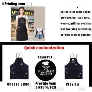 Personlized Custom Print Chef Apron-2