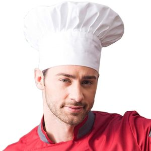 chef tall white hat-2