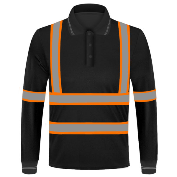 long sleeve safety green shirt-4