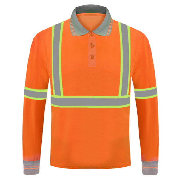 long sleeve safety green shirt-5