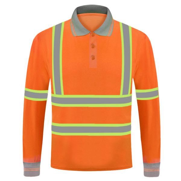 long sleeve safety green shirt-6