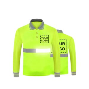 reflective safety polo t shirt-1