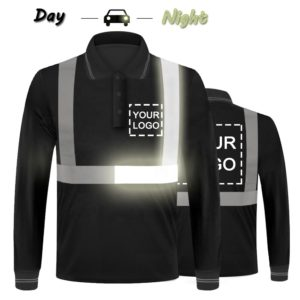 reflective safety polo t shirt-2