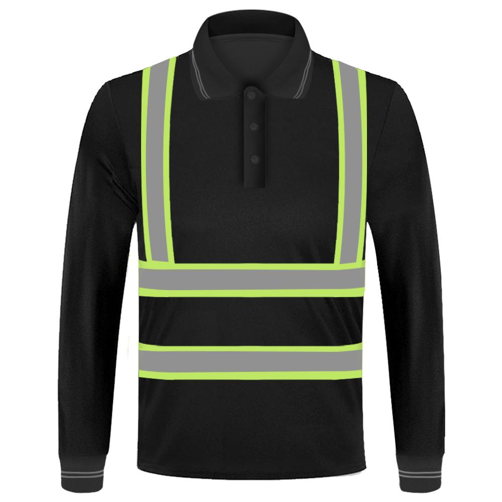 long sleeve safety green shirt